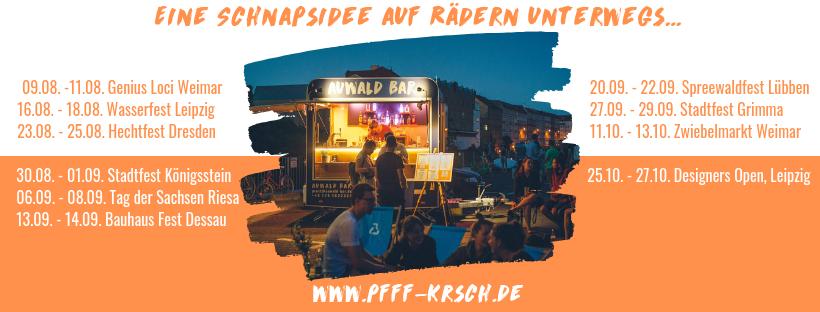 Auwald Bar, Mobile Bar, Pop Up Bar, PFFF, Pfefferminzlikör, KRSCH, Kirschlikör