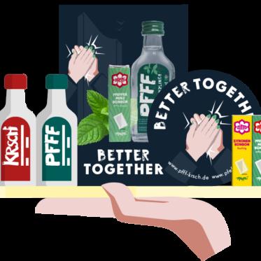 PFFF, Bio, Pfefferminzlikör, Kooperation, Better Together, Artkolchose, Auwald Destille