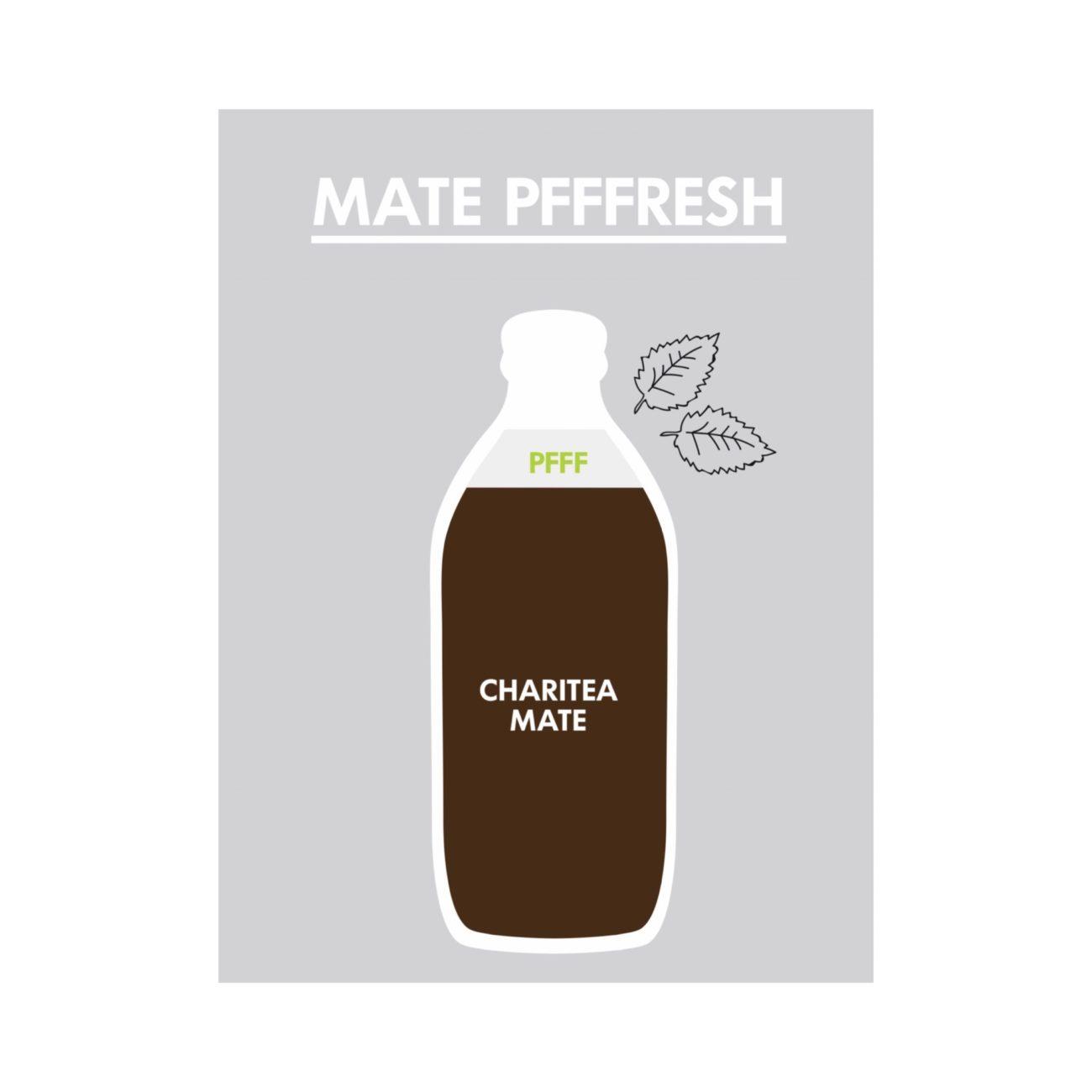 PFFF, Bio, Pfefferminzlikör, Mate, ChariTea, Drink, Logdrink